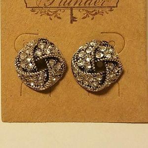 Rhinestone knot earrings